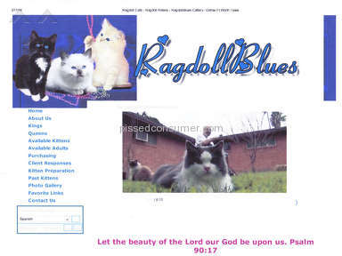 RagdollBlues is a Bad Cattery selling sick and infected Kittens