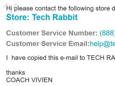 Techrabbit - Customer service will not respond