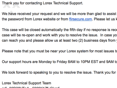 Lorex - Worst customer service and technical support ever!