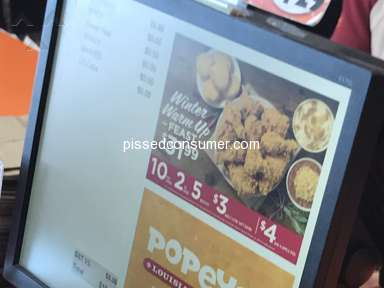 Popeyes Louisiana Kitchen - False advertising