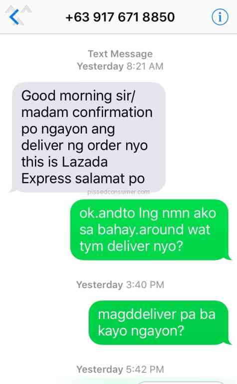 2180 LAZADA PHILIPPINES Reviews and Complaints Page 7