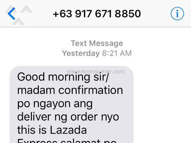 Lazada Philippines Delivery Service review 248088