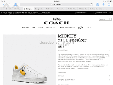 Coach Mickey C101 Sneakers review 152522