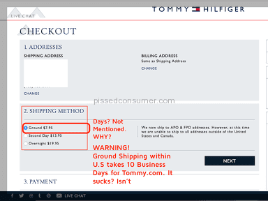 Tommy Hilfiger - Never Order Online on Tommy.com