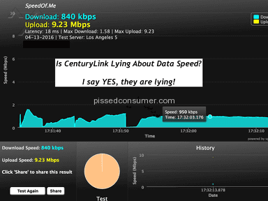 CenturyLink lies about billing and data speed?