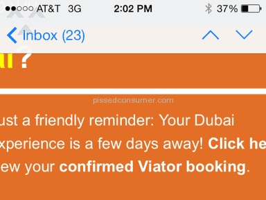 Viator - Confirmed email really doesn't mean you're confirmed