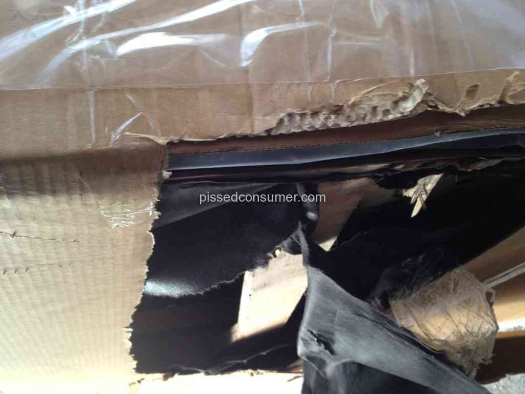 Bari leather furniture destroyed couch review from new for M furniture gallery new orleans