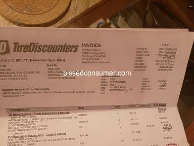 Tire Discounters Customer Care review 379760