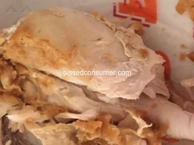 Popeyes Louisiana Kitchen - Chicken breast too tough to eat!