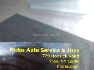 Midas Auto Service And Tires - Rip off of my money