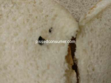 Save A Lot - I found a bug baked into a hamburger bun.