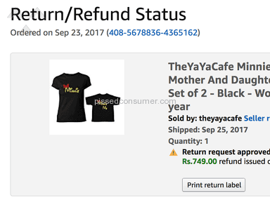 Amazon - REFUND NOT ISSUED EVEN AFTER 4 MONTHS