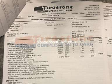 Firestone Complete Auto Care Tire Rotation review 556747