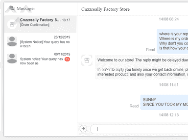 Aliexpress Cnzzreally Factory Store Profile review 745755