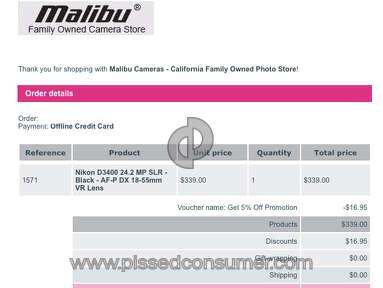 Malibu Cameras Equipment review 178464