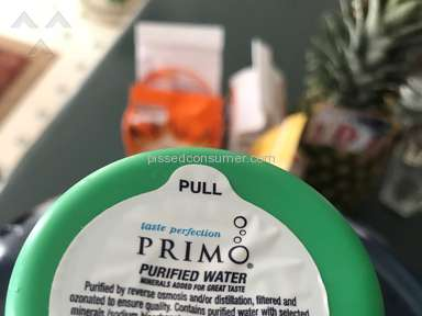Primo Water - Seal Water Bottle Has Tree Leaf floating inside. Great Purification System