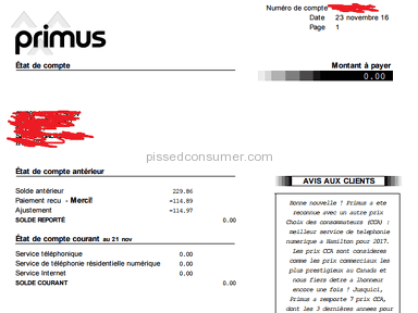 Primus Canada Internet Service review 176676
