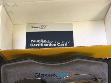GlassesUSA - Sent me broken glasses, with wrong prescription.
