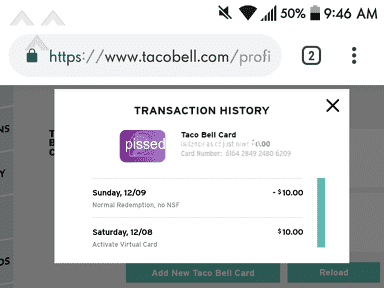 Taco Bell Mobile Application review 356762