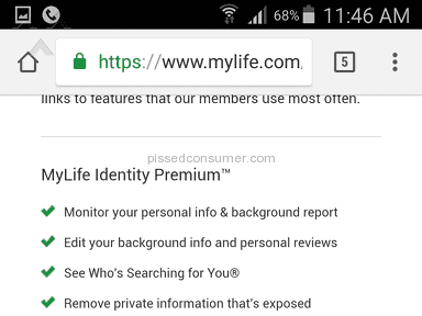 Mylife - Misleading business practices; Run away as fast as you can!