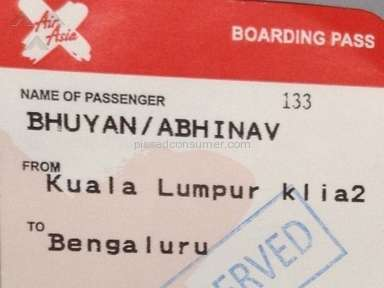 Air Asia Flight review 118135