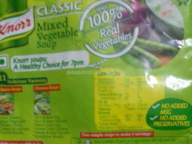 Unilever - Bad Quality- Knorr soup