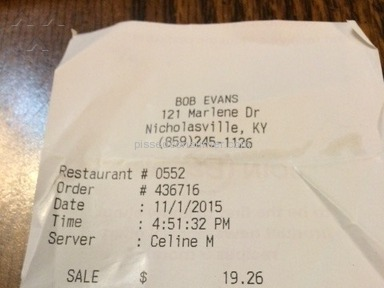 Bob Evans Restaurants Manager review 95735