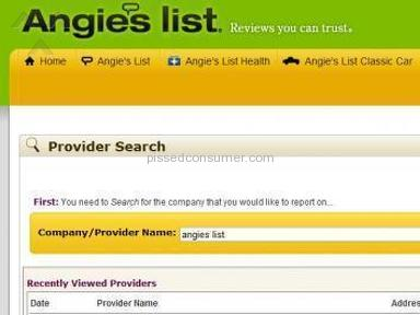 Angies List - Angie's list is a scam