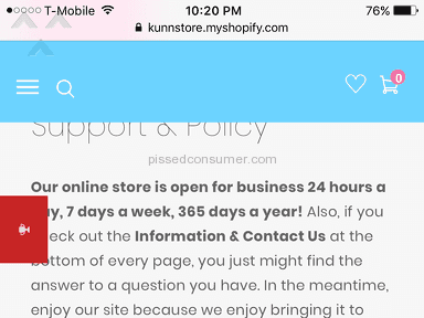 KunKun Store Shipping Service review 229154