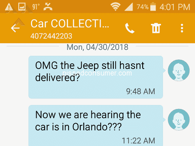 Car Collection LLC - Hired to transport but instead just stole money
