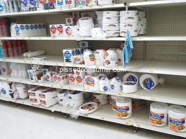 Walmart - Empty shelves