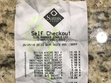 Sams Club - Disappointed