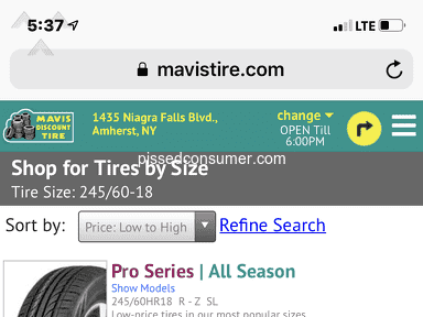 Mavis Discount Tire 005867 Wrong Tires For 2013 Ford Edge Sel Feb