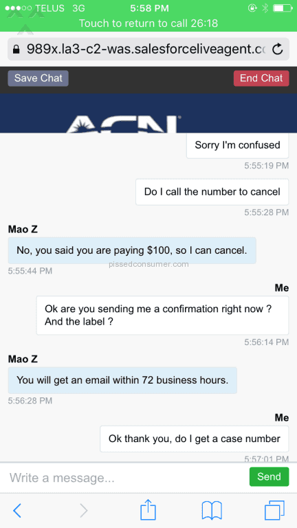 509 ACN Reviews and Complaints @ Pissed Consumer