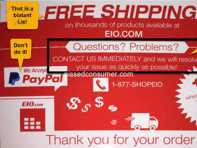 Electronic Inventory Online - EIO.COM Customer Service is NON-EXISTENT !!!!!!!!!!!!!!!