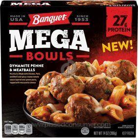 Banquet Meals Mega Bowl Frozen Meal