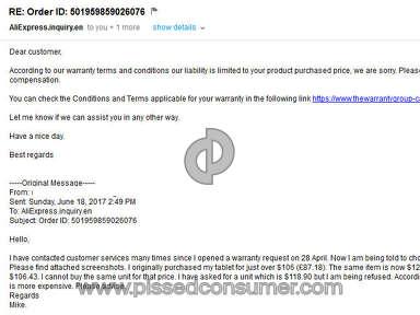 Aliexpress Electronics Claim review 214482