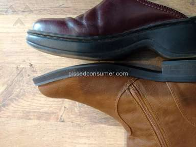 Steve Madden - Size grossly mismarked on boots - they will not accept return.