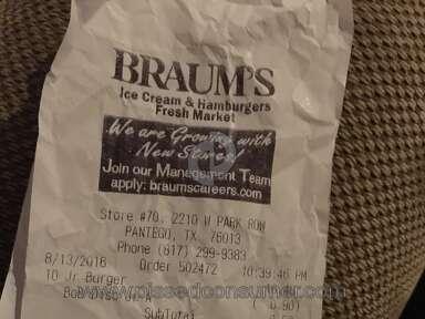 Braums Hamburger review 154228