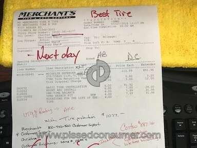 Merchants Tire And Auto Service Center - Liar Liar pants on fire, Chris!