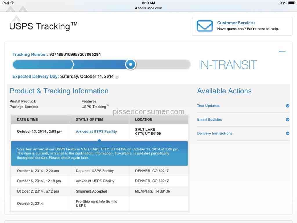 USPS issues tracking numbers to Better document their incompetence