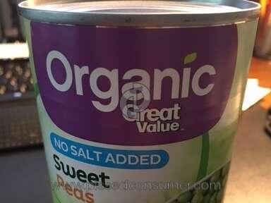 Walmart Great Value Organic Peas review 207388