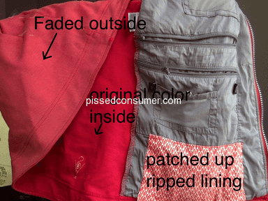 Scottevest - Products fade, zippers break and lining rips