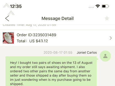 DHgate Shipping Service review 735009