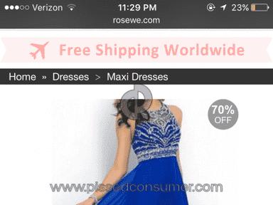 Rosewe Dress review 109803