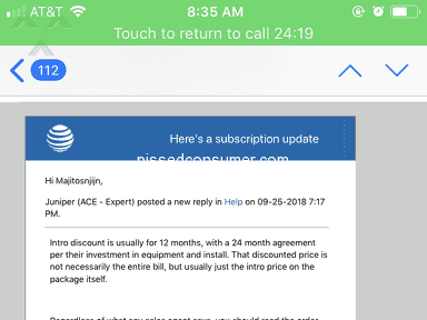 Directv - Answer to my complaint