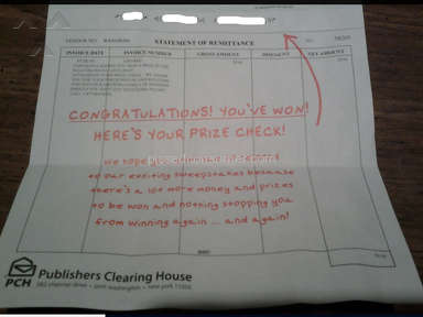 Publishers Clearing House - $20 Real PCH Winner