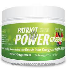 Patriot Health Alliance Patriot Power Greens Supplement