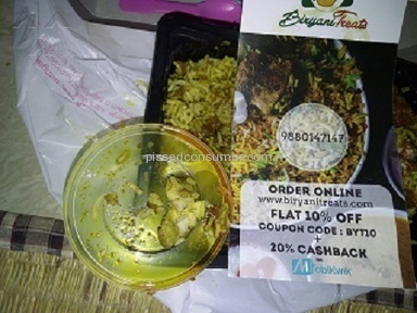 Biryani Treats Food Delivery review 100963