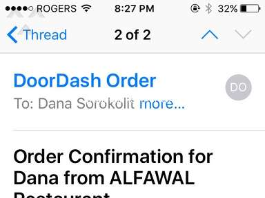 DoorDash - Horrible experience from Alfawal online order!